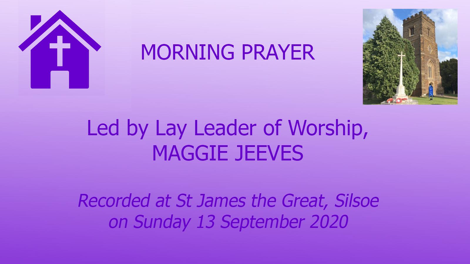 Morning Prayers from SIlsoe