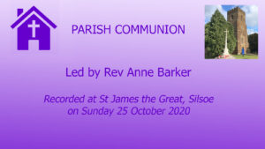Bible Sunday 25 October from Silsoe
