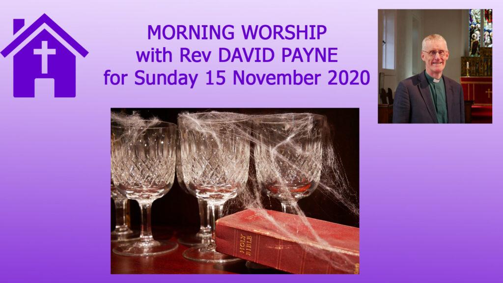 Morning Worship 15 11 2020