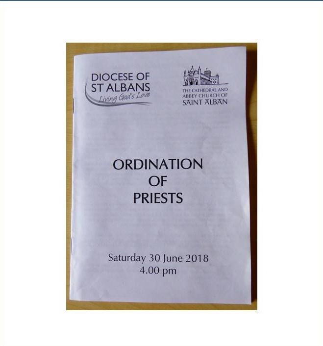 Priesting of Ian Smith