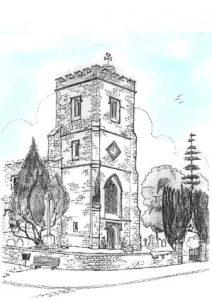 SKETCH - Silsoe Church